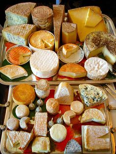Leave me with a cheese cart like this, and you can leave me to die, and go to heaven.  Cheese cart from Le Grand Vefore, Paris.