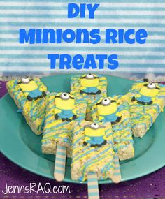 Minions Rice Treats make the perfect addition to any Minions-themed party. Check out how you can make your own icing Minions to decorate this classic snack. Minion Birthday, Minion Party, Star Wars Birthday, Back To School Lunch Ideas, 2nd Birthday Parties, Birthday Cakes, Birthday Ideas, Elegant Desserts, Superhero Cake