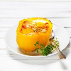 Découvrez la recette Oeuf cocotte en coque de poivron jaune sur cuisineactuelle.fr.