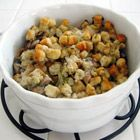 Stuffing in a Crock Pot -- Love this...make it every year.  I never use as much broth as it calls for, even though I like my stuffing really moist.  I'm not a fan of stuffing in the bird and I love that this frees up the oven.