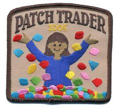 The 2005 Patch Trader crest/patch. #Girl_Guides #Girl_Scouts #badges #crests