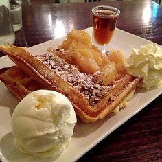 Apple Pie Waffles With Ice Cream @ Superstar Waffles