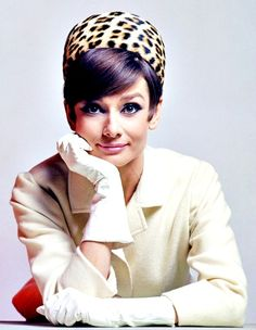 Audrey Hepburn 1960's  yes leopard pillbox hat, where have you been all my life?