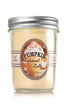 B & BW Pumpkin Caramel Latte Mason Jar Candle!  I love all things pumpkin and coffe! <3 Curious as to how this smells!