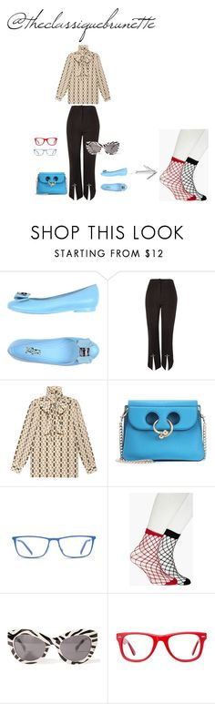 """@theclassiquebrunette"" by sara-rodriguez-arias ❤ liked on Polyvore featuring Salvatore Ferragamo, Topshop, Gucci, J.W. Anderson, Boohoo, Cheap Monday, Muse and Lifestyle"