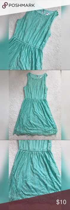 < Turquoise Colored Summer Dress > Super cute summer dress, great used condition! Xhilaration Dresses Mini
