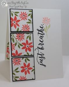 CAS Blooms & Wishes Just Breathe by amyk3868 - Cards and Paper Crafts at Splitcoaststampers