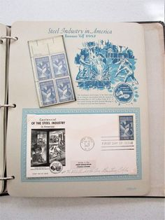Postage Stamps Stationary Book Issue 1957 Book 22 pgs First Day Issue Air Force