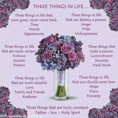 three best things in life