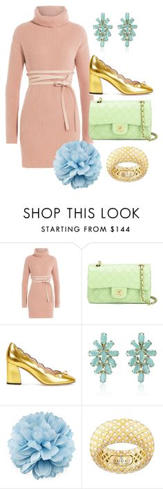 """Pastel babe"" by norathelemon ❤ liked on Polyvore featuring Valentino, Chanel, Gucci and Cielle London"