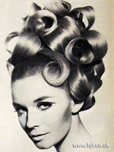 Model with curls by Maurice Salon, 1967. Photo by John French.