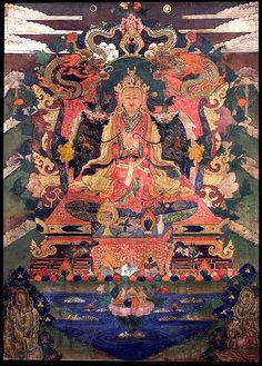 Tibet 1800 - 1899 Uncertain Lineage Ground Mineral Pigment on Cotton Collection of Rubin Museum of Art Buddhist Teachings, Buddhist Art, Buddha Buddhism, Tibetan Buddhism, Tantra Art, Tibetan Mandala, Tibet Art, Thangka Painting, Wheel Of Life