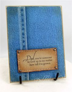 create denim look on paper - a fabulous look for a guy card!