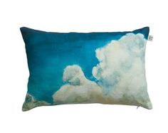 Cushion with soft clouds and blue sky painted in door toucheefeelee1