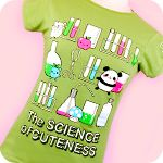 Genki Gear Science of Cuteness Tee Green