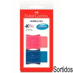 Borracha colorida c/ cinta Glitz SM7024GLI Faber Castell - Escolar - Kalunga.com