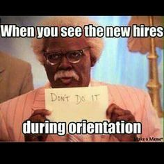 Lol. They do this at work when I'm doing orientation with my drivers.