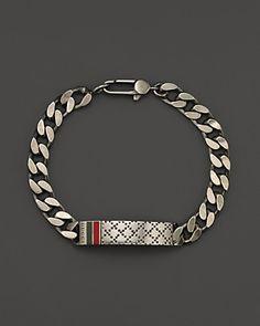 Gucci Men's Bracelet with Diamantissima Motif | Bloomingdale's