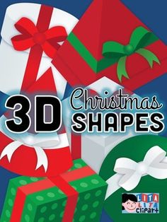 FREE 3D Shapes Christmas Clipart