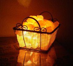Hot Peach Cobbler  Himalayan Salt Lamp by CherryCreekNV on Etsy