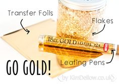 On trend this season are gold effects using transfer foils... These are SO fun! /ES