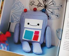 Hop Skip Jump Book-I was just thinking I need to design a robot to make for the baby...maybe use this for a guideline?