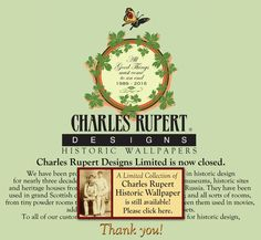 Charles Rupert Designs specializes in exclusive historic reproduction wallpaper and fabric. Collections feature William Morris, Bruce Talbert, Victorian and Arts & Crafts re-issued designs in eco-friendly printings. Art And Craft Design, Design Crafts, William Morris, Designer Wallpaper, Wallpaper Designs, American Pickers, European House, Glass Knobs, Furniture Hardware