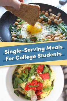 Single-Serving Meals You Can Make In A College Kitchen 21 Single-Serving Meals You Can Make In A College Kitchen , 21 Single-Serving Meals You Can Make In A College Kitchen , Healthy College Meals, College Food Hacks, College Cooking, College Recipes, Healthy Breakfasts, Healthy Dinners, College Meal Planning, Planning Budget, Menu Planning