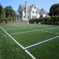 Whoa now that's a backyard football field!