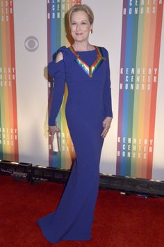 Meryl Streep walks the red carpet during the 27th Annual Kennedy Center Honors at John F. Kennedy Center for the Performing Arts on December 7, 2014 in Washington, DC.