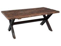 Hekman Furniture - Railroad Tie and Steel Coffee Table - 2-7570
