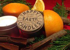 Aromatherapy Candle with Cinnamon & Orange from Happy Earth Candles Happy Earth, Aromatherapy Candles, Ecommerce Hosting, Interior Inspiration, Beautiful Things, Cinnamon, Orange, Canela