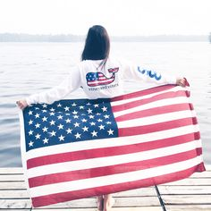 Lauren summers on one of Minnesota's lakes showing her stripes with a little red, whale and blue! Preppy Southern, Southern Prep, Prep Life, Sea To Shining Sea, Home Of The Brave, Land Of The Free, God Bless America, Preppy Style, Little Red