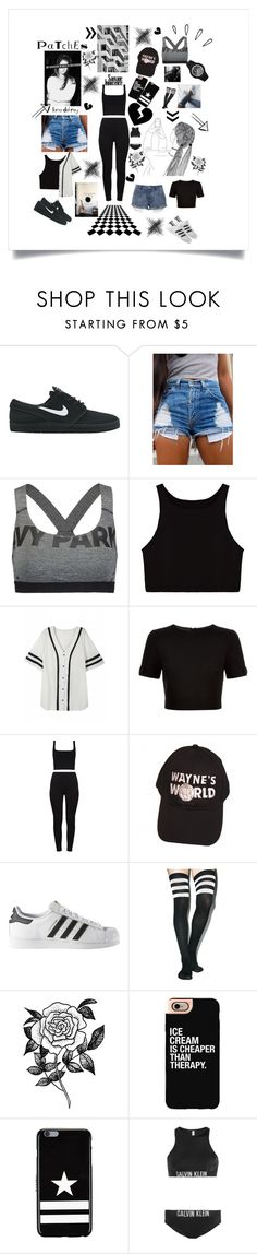 """""""Shady Days"""" by thehotline ❤ liked on Polyvore featuring NIKE, Ivy Park, Ted Baker, Old Navy, adidas, Leg Avenue, Forever 21, Casetify, Givenchy and Calvin Klein"""