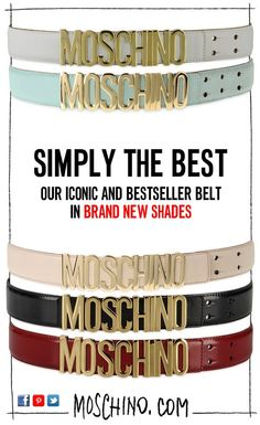 Simply the best: discover the brand new Moschino belt collection! ♥ #moschino #belt