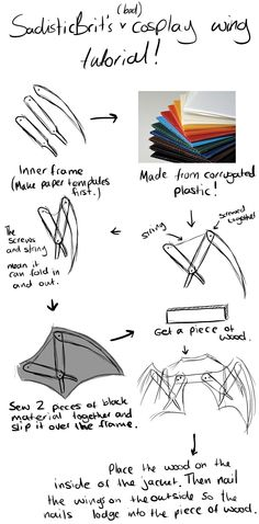 Cosplay Wing Tutorial by SarcasticBrit.deviantart.com on @deviantART