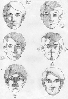 light and shadow… drawing tutorial Shading Drawing, Drawing Sketches, Painting & Drawing, Art Drawings, Shading Faces, Manga Drawing, Sketching, Drawing Skills, Drawing Techniques