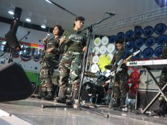 Philippine Airforce Band performing live at the event center for the Independence Day 2014 celebration! :)