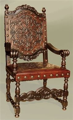 This ceremonial chair called the sedias was inspired from the medieval period and used in the Renaissance period with a slight change to its scaling, it used be be larger. Old World Furniture, Mexican Furniture, Unusual Furniture, Gothic Furniture, Furniture Styles, Furniture Making, Luxury Furniture, Antique Furniture, Painted Furniture
