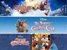 Three tales. One story. Which Christmas Carol is your favorite? #movies #topmovies #gameofthrones #harrypotter #starwars #startrek #aliceinwonderland