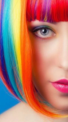"""""""The person who has no fantasies, is already dead !"""" 💙💚💜💛â World Of Color, Color Of Life, Color Splash, Photographie Portrait Inspiration, Rainbow Fashion, Beauty Shots, Rainbow Hair, Cool Hair Color, Color Mixing"""
