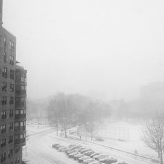 White out - can't see the Philly skyline. Parkway - photo by @nataliehopemcdonald