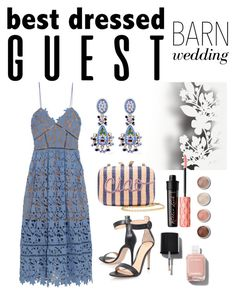 """Wedding guest"" by zerinafe ❤ liked on Polyvore featuring self-portrait, Élitis, KOTUR, Etro, Gianvito Rossi, Chanel, Benefit, Terre Mère, bestdressedguest and barnwedding"