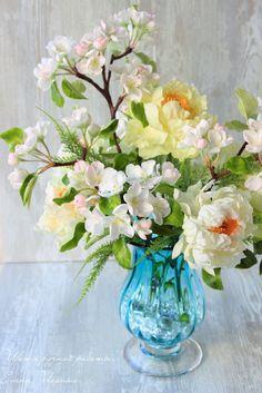 handmade flowers peonies Apple-blossom