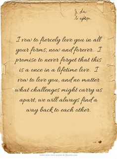 i vow to fiercely love you in all your forms now and forever i