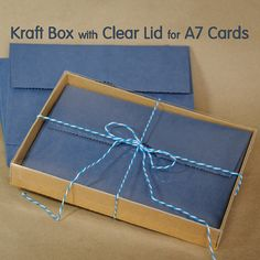 Craft cards boxed set garo boxed set pinterest 12 sets a7 kraft box with clear lid 5 38 x 1 x 7 12 packaging for greeting card sets and more 1050 via etsy m4hsunfo