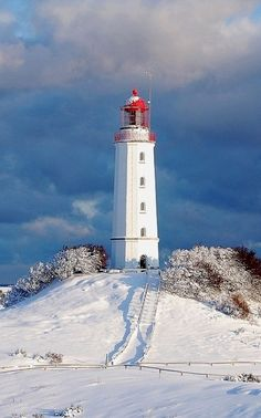 Leuchtturm Dornbusch im Winter | Hiddensee