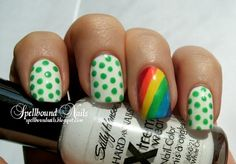 St. Patrick's Day nail art. cute and simple...