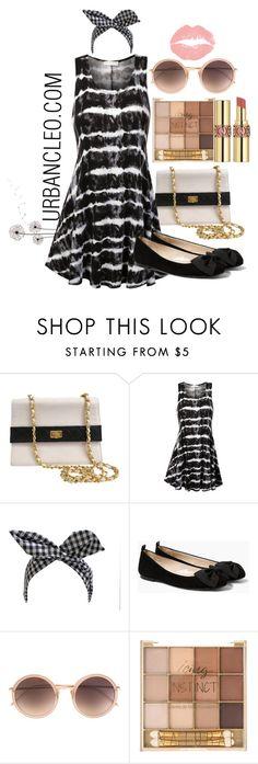 """URBANCLEO Black Tie Dye Tank Dress"" by urbancleo ❤ liked on Polyvore featuring Chanel, Retrò, MANGO, Linda Farrow, Yves Saint Laurent, women's clothing, women's fashion, women, female and woman"