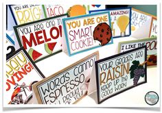 Build classroom community by tucking these funny cards away in your desk to give to students when they impress or surprise you!